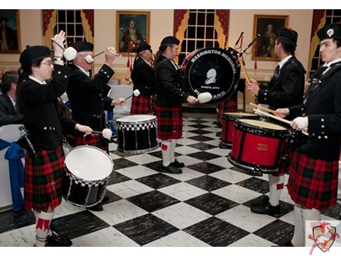 2012 Mustang Scholars Man of the Year - bagpipes -2